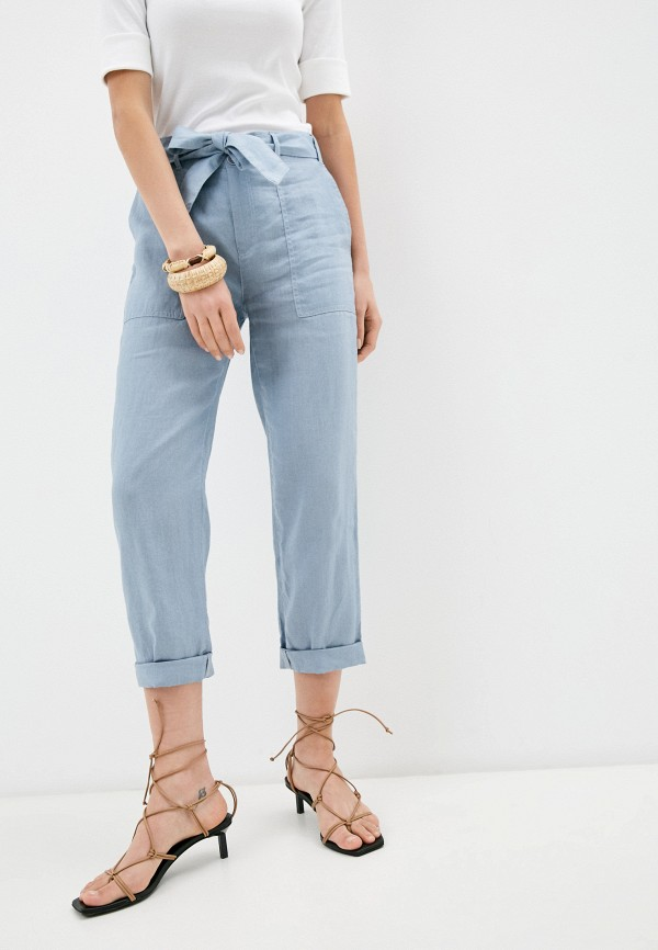 женские повседневные брюки lauren ralph lauren, голубые