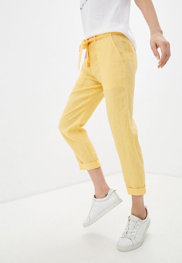женские повседневные брюки lauren ralph lauren, желтые