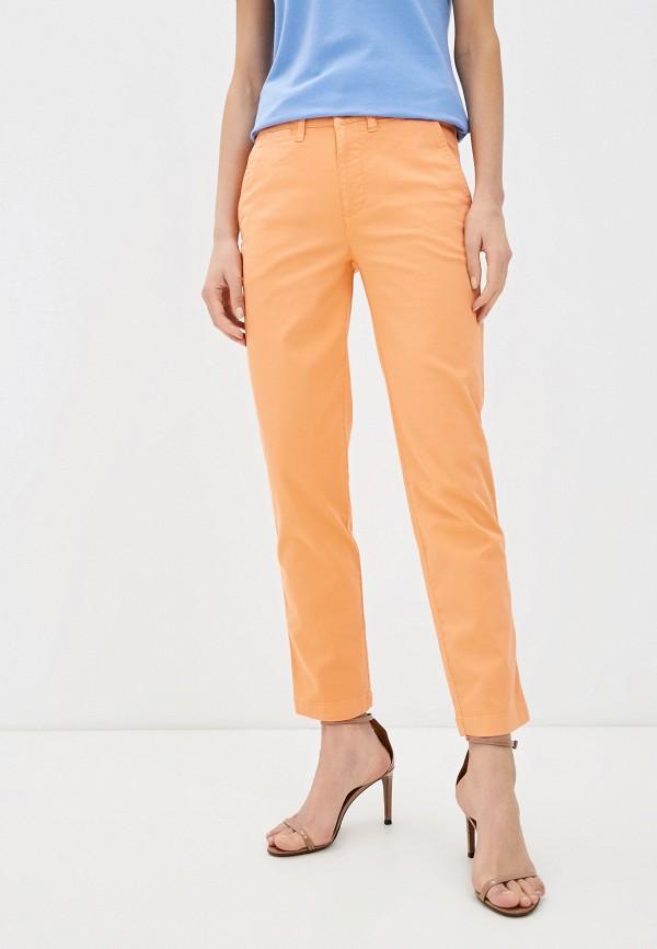 женские повседневные брюки lauren ralph lauren, оранжевые