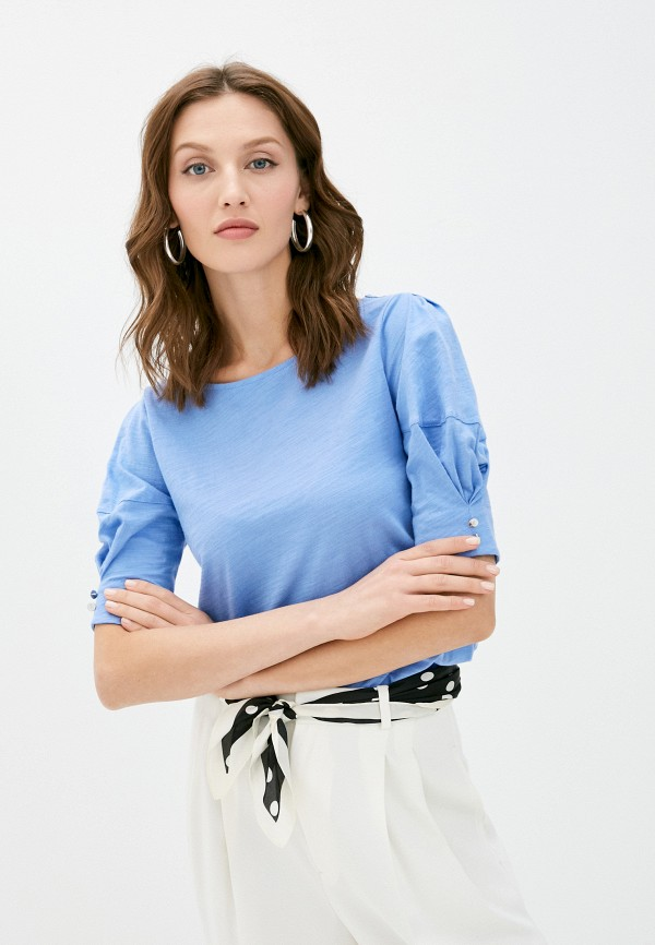 женская футболка lauren ralph lauren, голубая