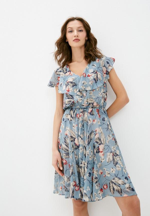 женское повседневные платье lauren ralph lauren, голубое