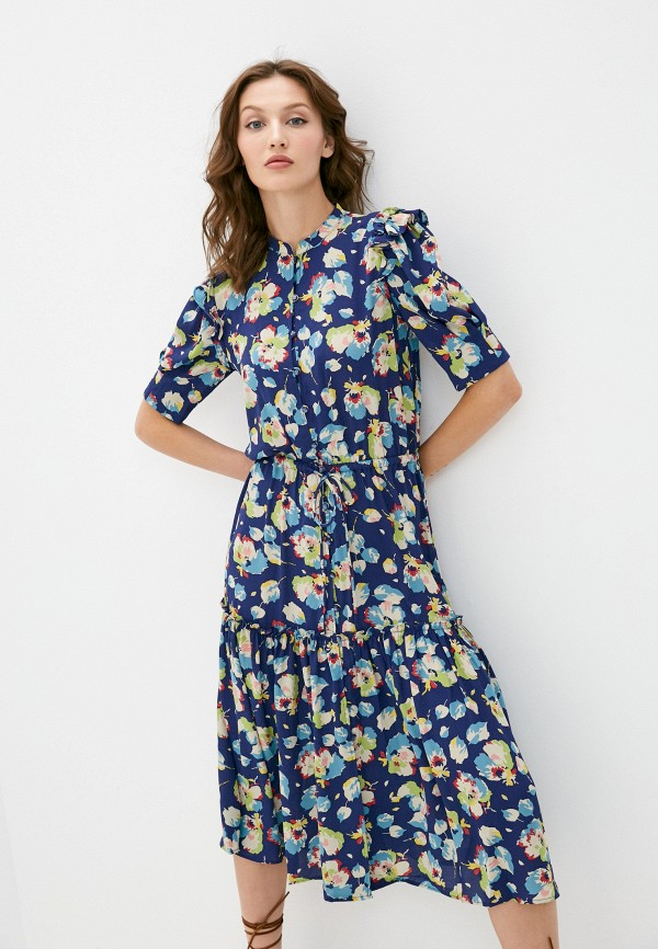 женское повседневные платье lauren ralph lauren, синее