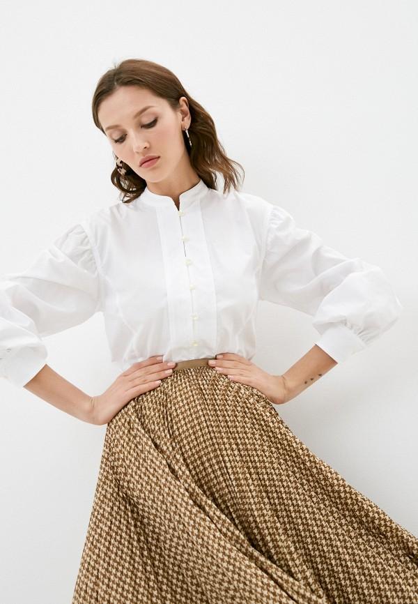 женская рубашка с длинным рукавом lauren ralph lauren, белая