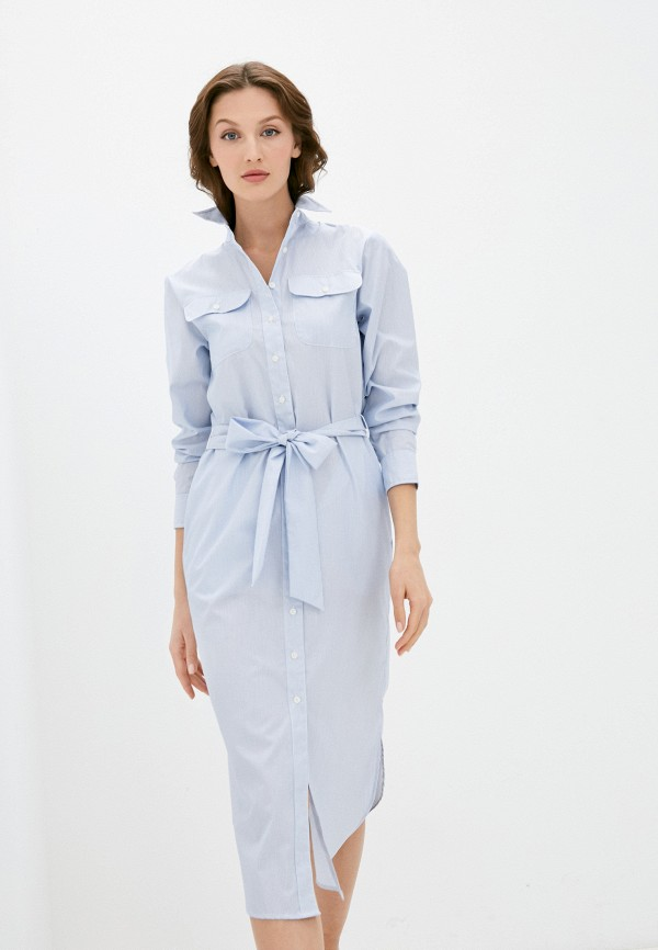 женское платье lauren ralph lauren, голубое