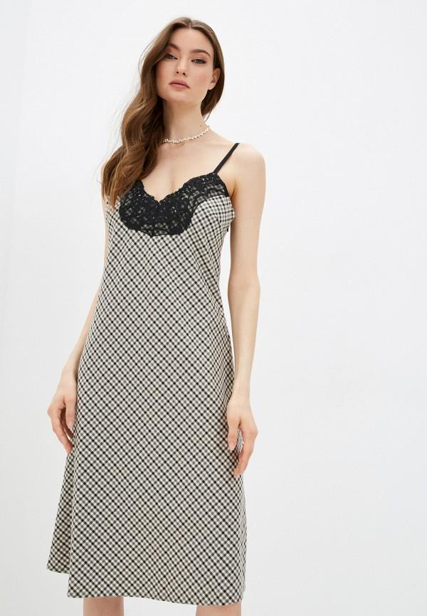 женское платье twinset milano, серое