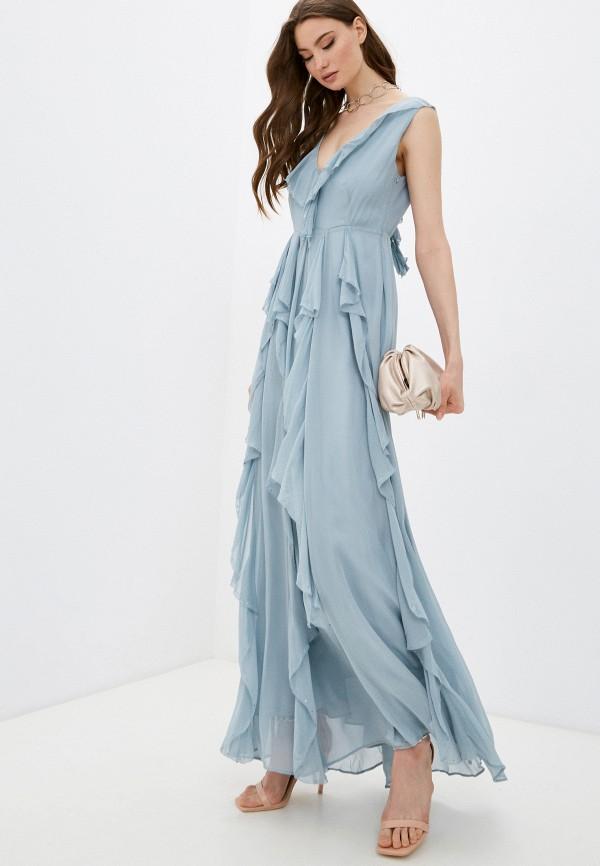 женское вечерние платье twinset milano, голубое