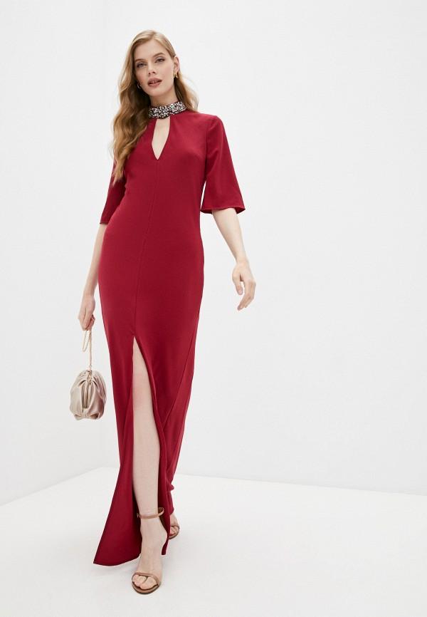 женское вечерние платье twinset milano, бордовое
