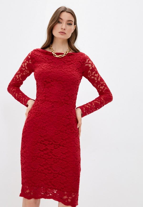 женское вечерние платье twinset milano, красное