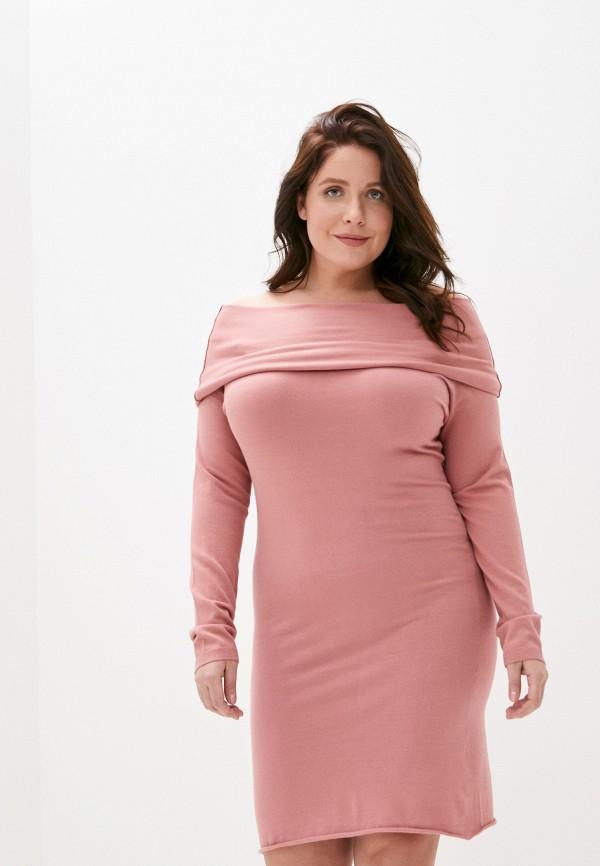 женское платье twinset milano, розовое