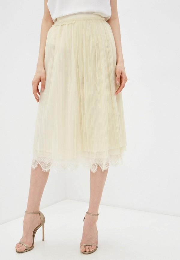 женская юбка twinset milano, бежевая