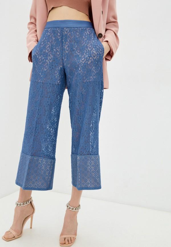 женские повседневные брюки twinset milano, голубые