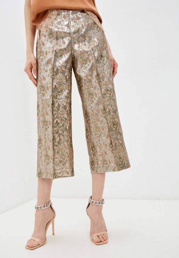 женские повседневные брюки twinset milano, золотые