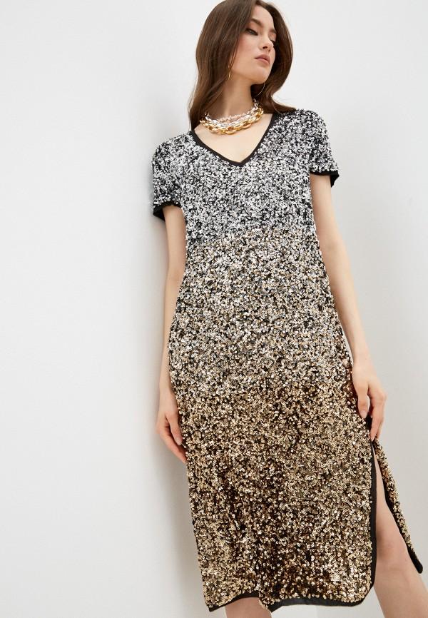 женское вечерние платье twinset milano, разноцветное