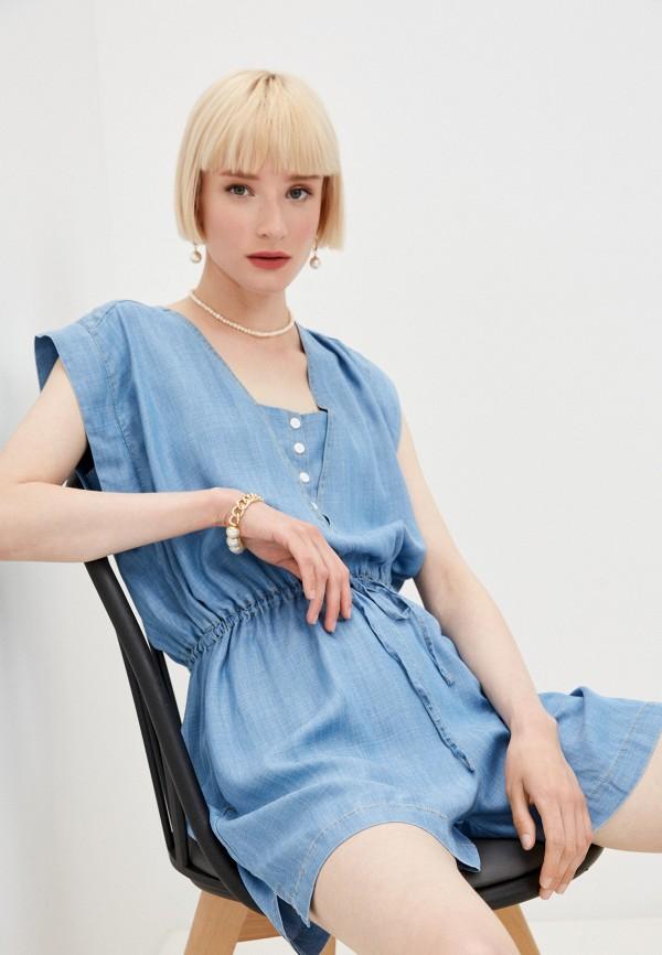 женский комбинезон twinset milano, синий