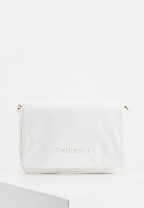 женская сумка twinset milano, белая