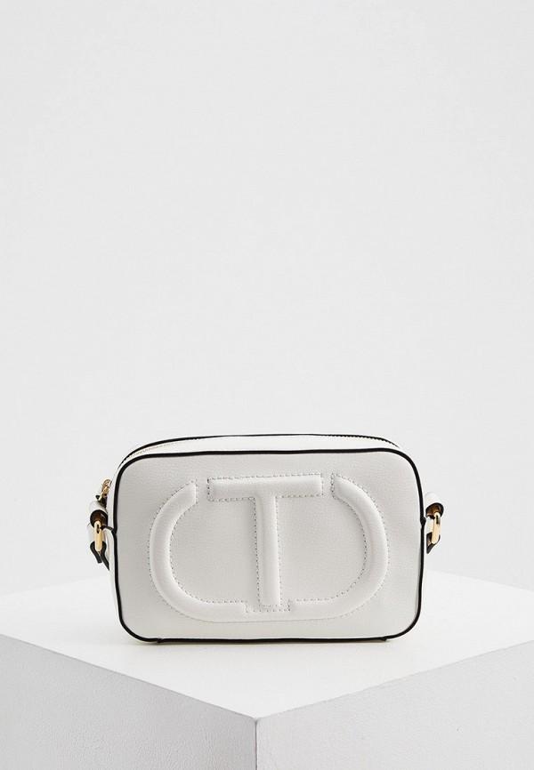 женская сумка через плечо twinset milano, белая
