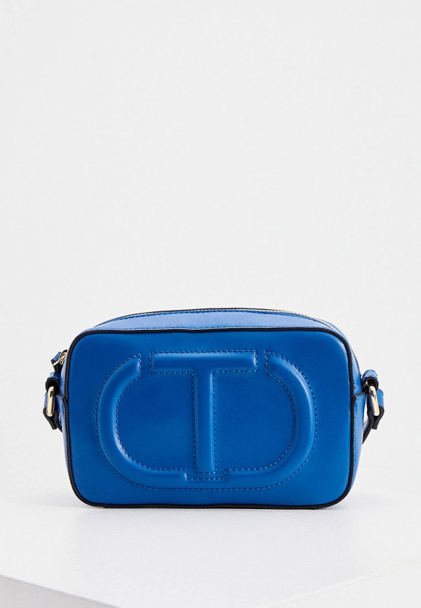 женская сумка через плечо twinset milano, синяя
