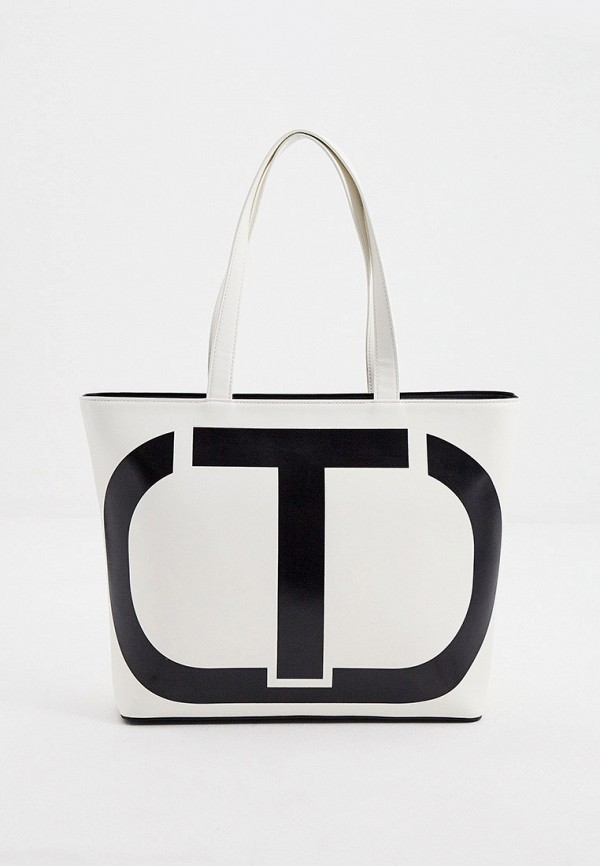 женская сумка-шоперы twinset milano, белая