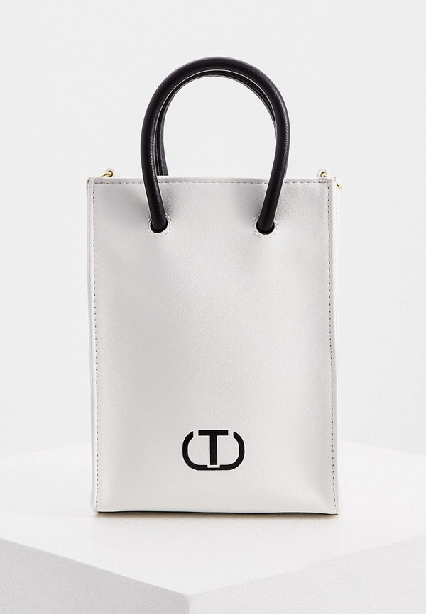 женская сумка с ручками twinset milano, белая