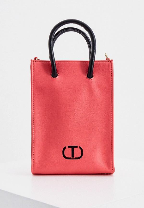 женская сумка с ручками twinset milano, красная