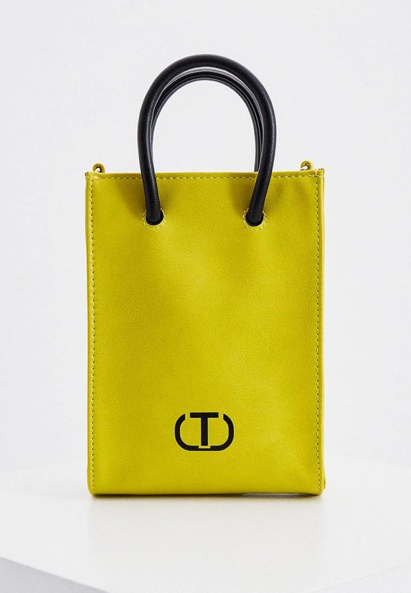 женская сумка twinset milano, зеленая