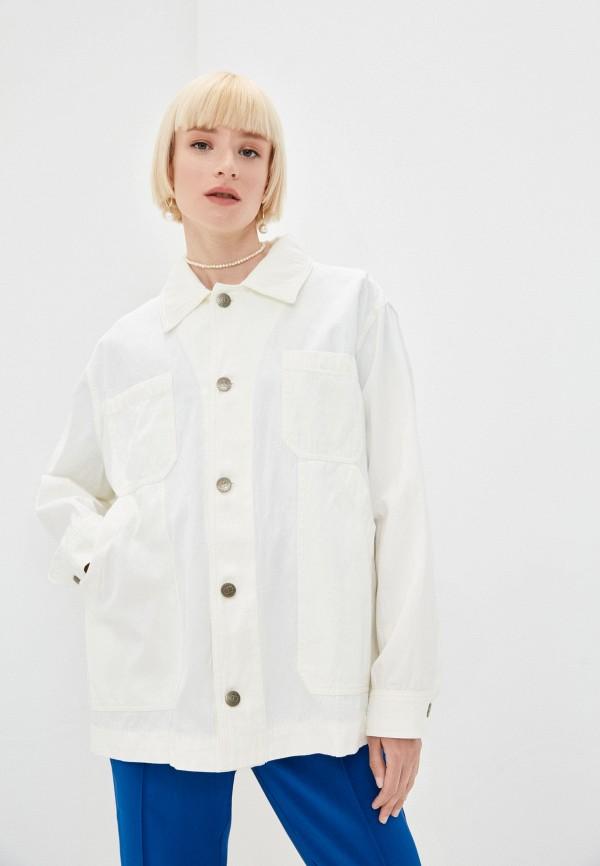 женская куртка twinset milano, бежевая