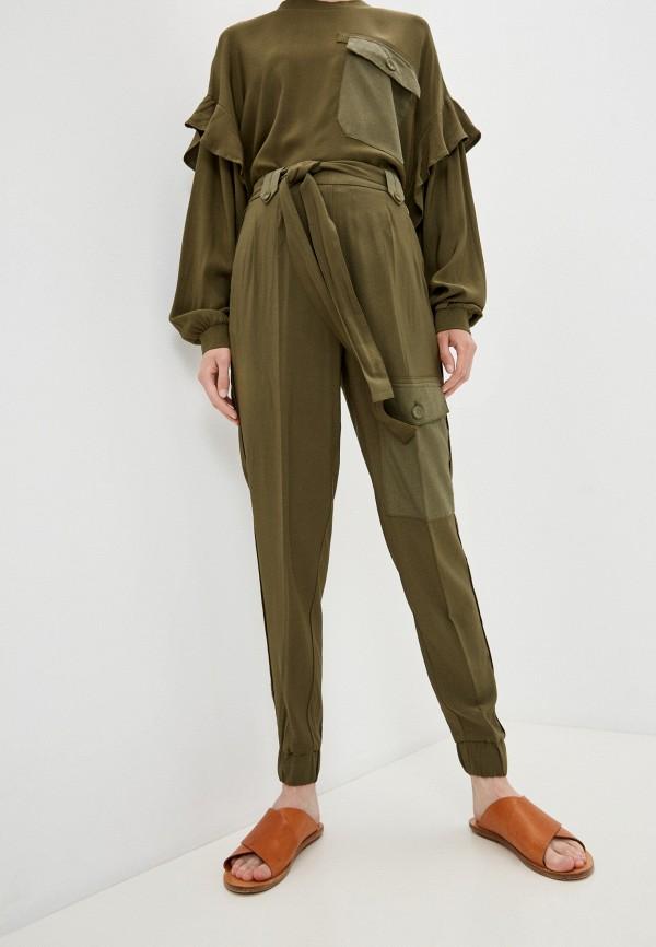 женские брюки twinset milano, хаки