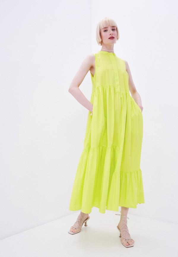 женское повседневные платье twinset milano, зеленое