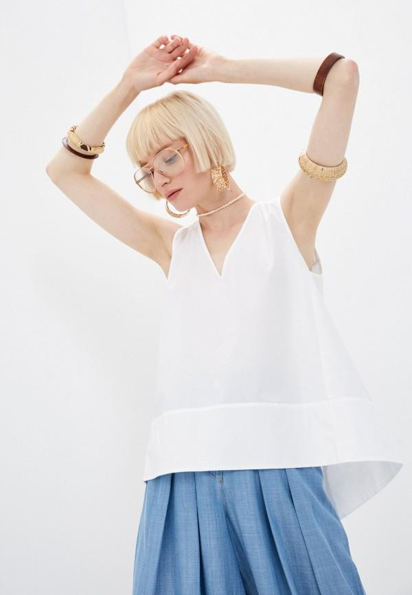 женская блузка twinset milano, белая