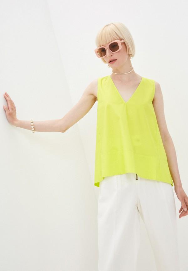 женская блузка twinset milano, зеленая