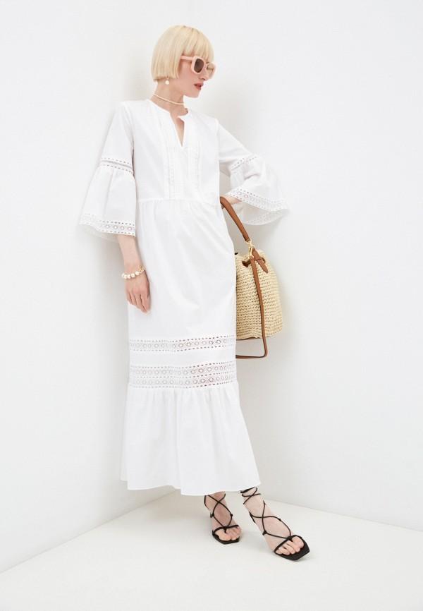 женское повседневные платье twinset milano, белое