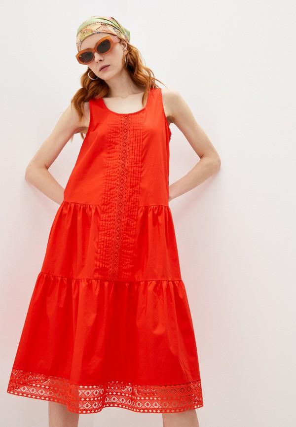 женское повседневные платье twinset milano, красное