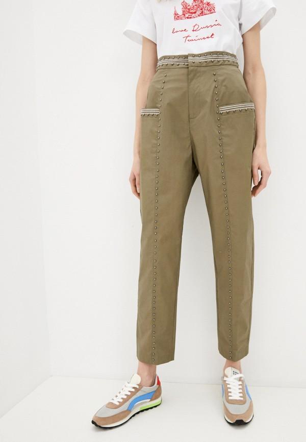 женские повседневные брюки twinset milano, хаки