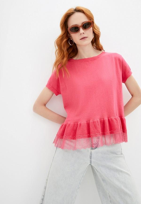 женский джемпер twinset milano, розовый