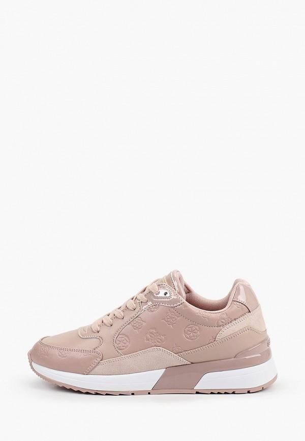 женские кроссовки guess, розовые