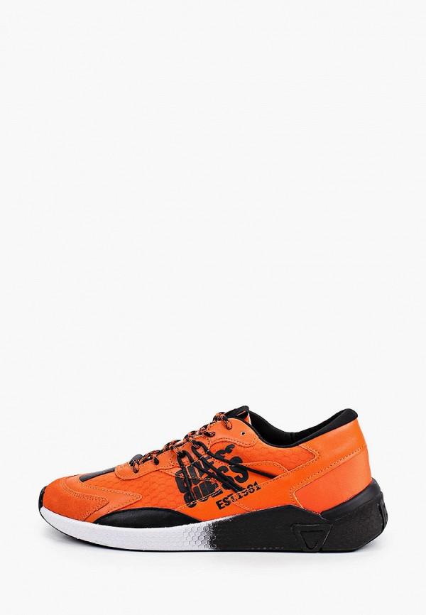 мужские низкие кроссовки guess, оранжевые