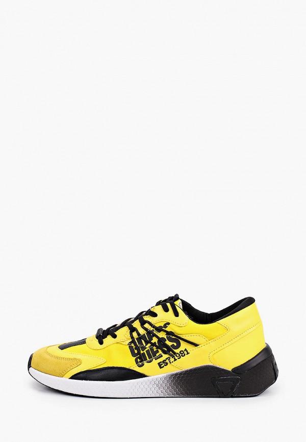 мужские кроссовки guess, желтые