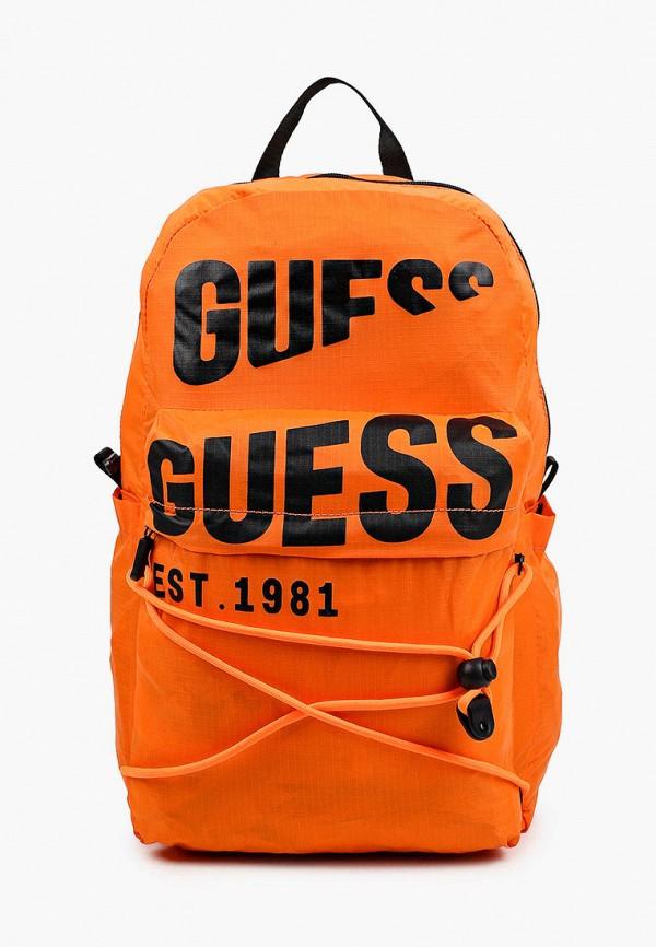 мужской рюкзак guess, оранжевый