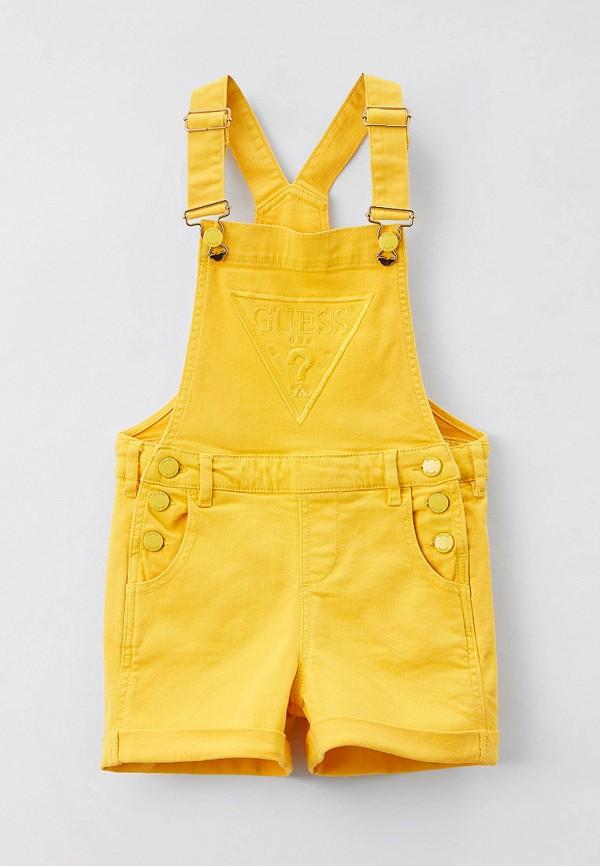джинсовые комбинезон guess для девочки, желтый