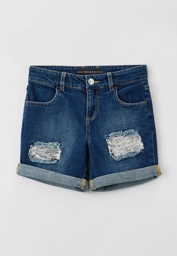 джинсовые шорты guess для девочки, синие