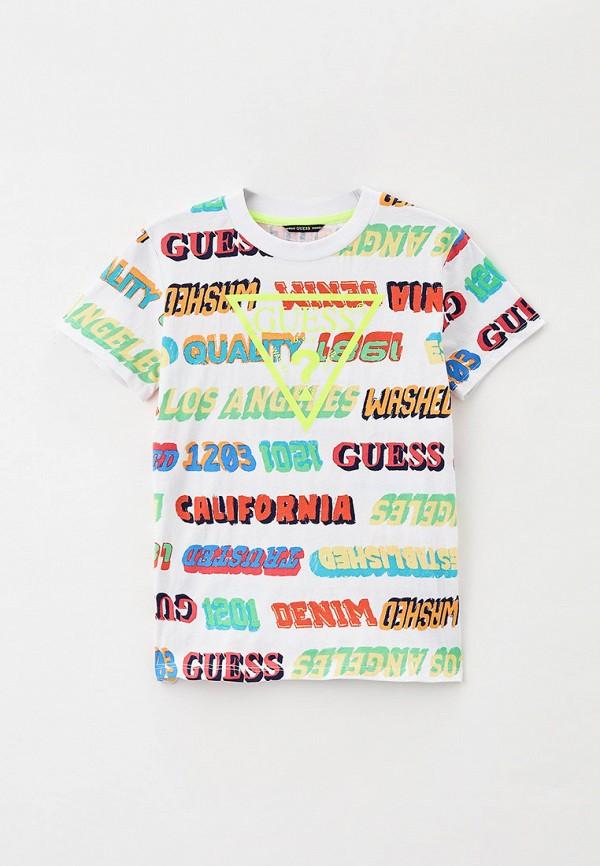футболка с коротким рукавом guess для мальчика, разноцветная