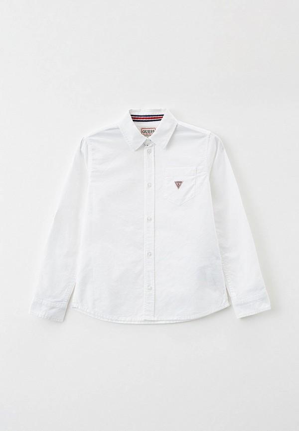 рубашка guess для мальчика, белая