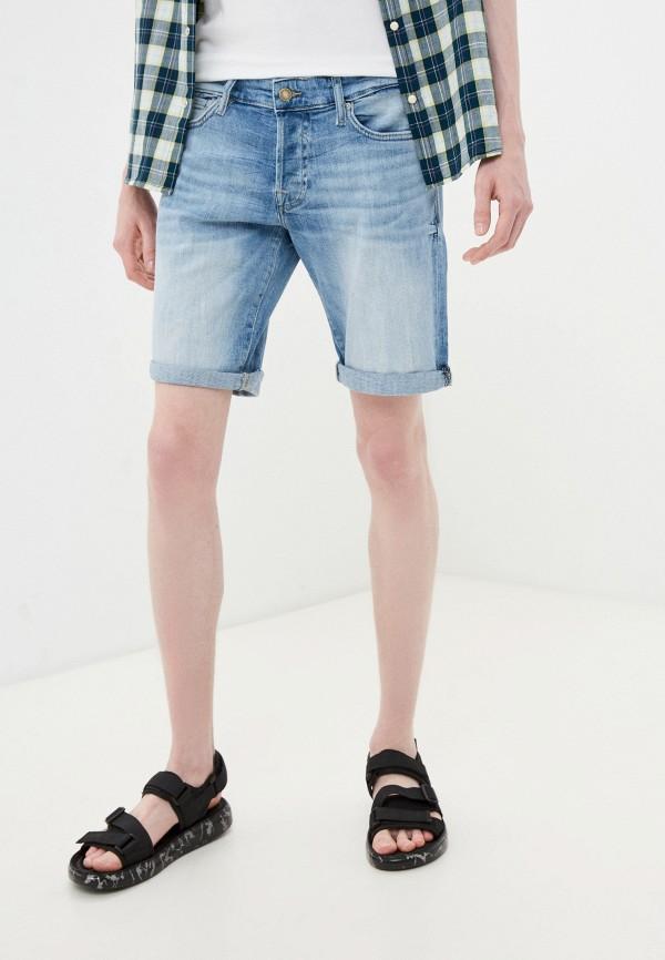 мужские джинсовые шорты guess, голубые