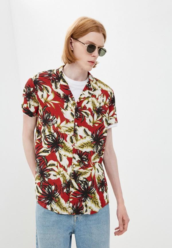 мужская рубашка с коротким рукавом guess, разноцветная