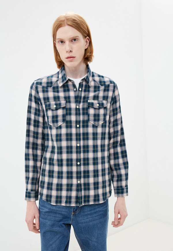 мужская рубашка с длинным рукавом guess, разноцветная
