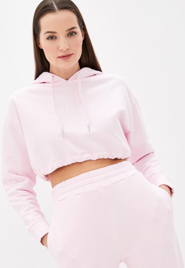 женские худи guess, розовые