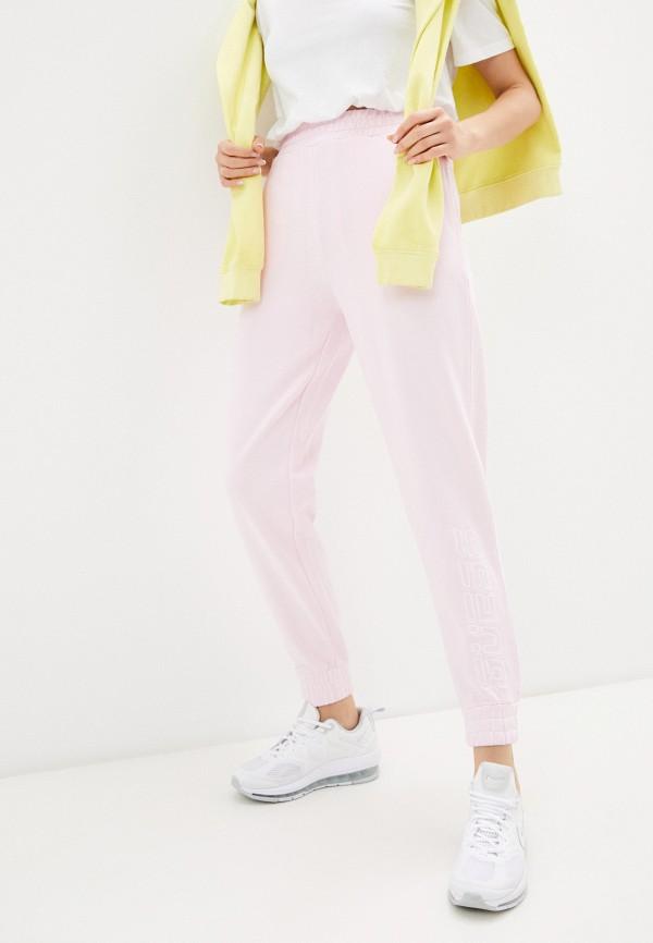 женские спортивные брюки guess, розовые