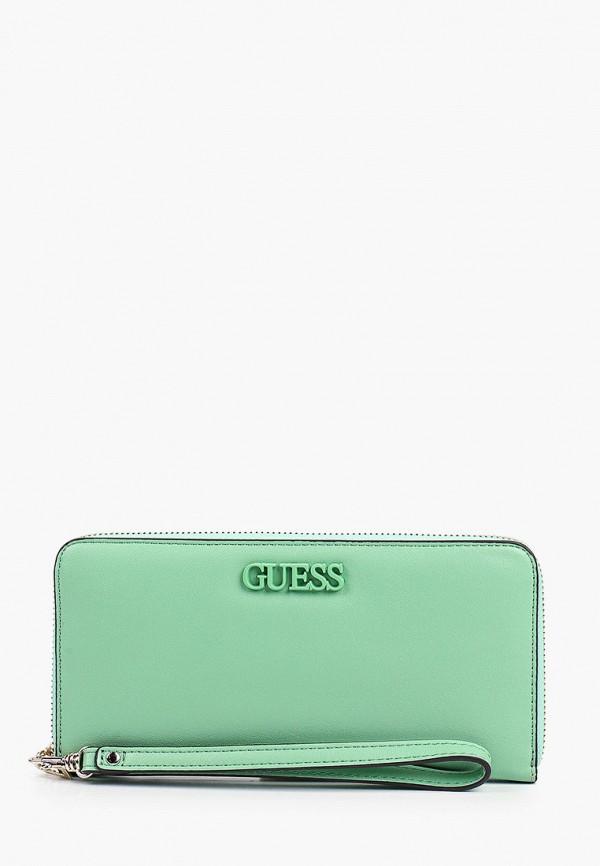 женский кошелёк guess, зеленый