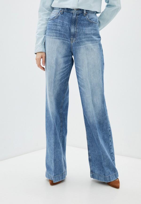 женские джинсы клеш guess, синие