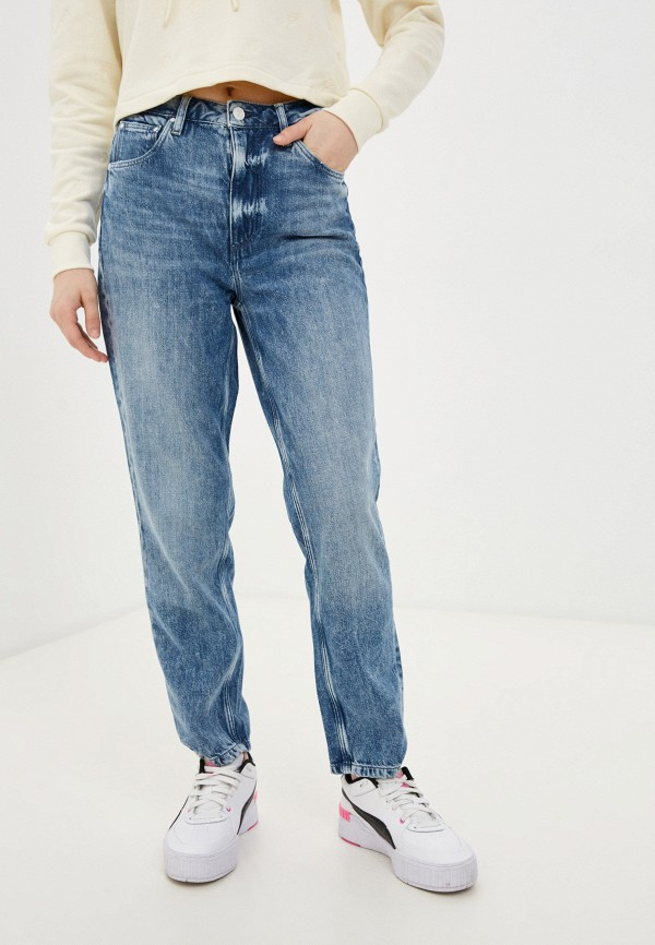 женские прямые джинсы guess, голубые